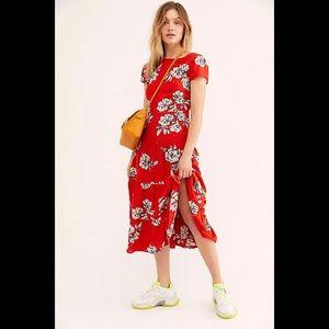 Free People-Rita Tiered Midi Dress